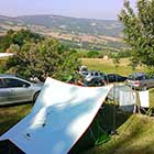 Il panorama dal camping